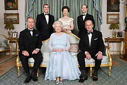 File photo dated 18/11/07 of (left to right, back row) the Duke of York, the Princess Royal, the Earl of Wessex, and (left to right, front row) the Prince of Wales, Queen Elizabeth II and the Duke of Edinburgh, at Clarence House for a dinner to mark the forthcoming Diamond Wedding Anniversary of Queen Elizabeth II and the Duke of Edinburgh.