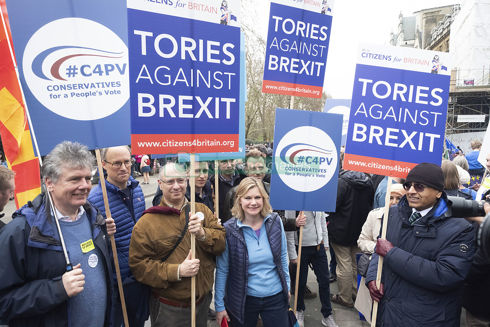 March 23, 2019 - London, London, United Kingdom - 23 March 2019. Demonstrators take part in the Put It To The People March calling for a second referendum on the UK exiting the European Union. London, United Kingdom. Photo by Ray Tang Media (Credit Image: © Ray Tang/ZUMA Wire)