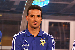 September 11, 2018 - East Rutherford, NJ, U.S. - EAST RUTHERFORD, NJ - SEPTEMBER 11:  Argentina interim head coach Lionel Scaloni prior to the International Friendly Soccer game between Argentina and Colombia on September 11, 2018 at MetLife Stadium in East Rutherford, NJ.   (Photo by Rich Graessle/Icon Sportswire) (Credit Image: © Rich Graessle/Icon SMI via ZUMA Press)