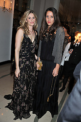 Left to right, FRANCESCA HAMMERSTEIN and INDIA LANGTON at a dinner and dance hosted by Leon Max for the charity Too Many Women in support of Breakthrough Breast Cancer held at Claridges, Brook Street, London on 1st December 2011.