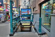 Manhattan, New York City, NYC, NY, Subway, Entrance, Midtown, Manhattan