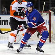 J.T. Miller, New York Rangers, in action during the New York Rangers Vs Philadelphia Flyers, NHL regular season game at Madison Square Garden, New York, USA. 26th March 2014. Photo Tim Clayton