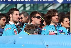 Slowenian team at 9th men's slalom race of Audi FIS Ski World Cup, Pokal Vitranc,  in Podkoren, Kranjska Gora, Slovenia, on March 1, 2009. (Photo by Vid Ponikvar / Sportida)