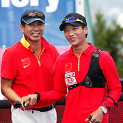 DAI Xiaoxiang (CHN) (R) competes in Archery World Cup Final in Istanbul, Turkey, Sunday, September 25, 2011. Photo by TURKPIX