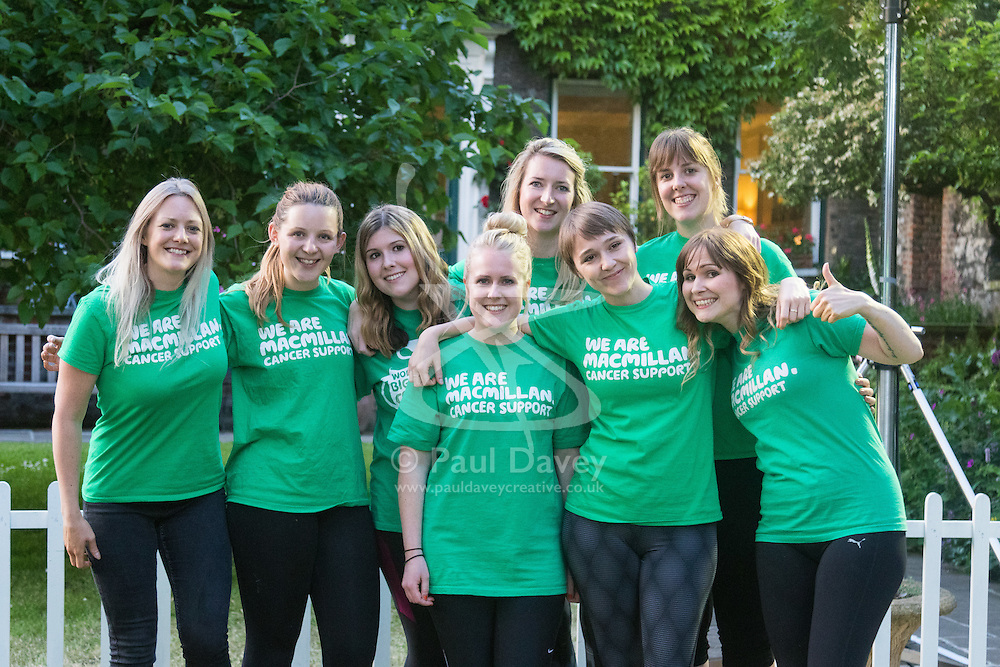 Westminster, London, June 6th 2016. The female Mc Millans team who were pitted against the women MPs as teams from uk industry as well as the House of Commons and the House of Lords compete in the annual McMillan Cancer Charity tug o' war.