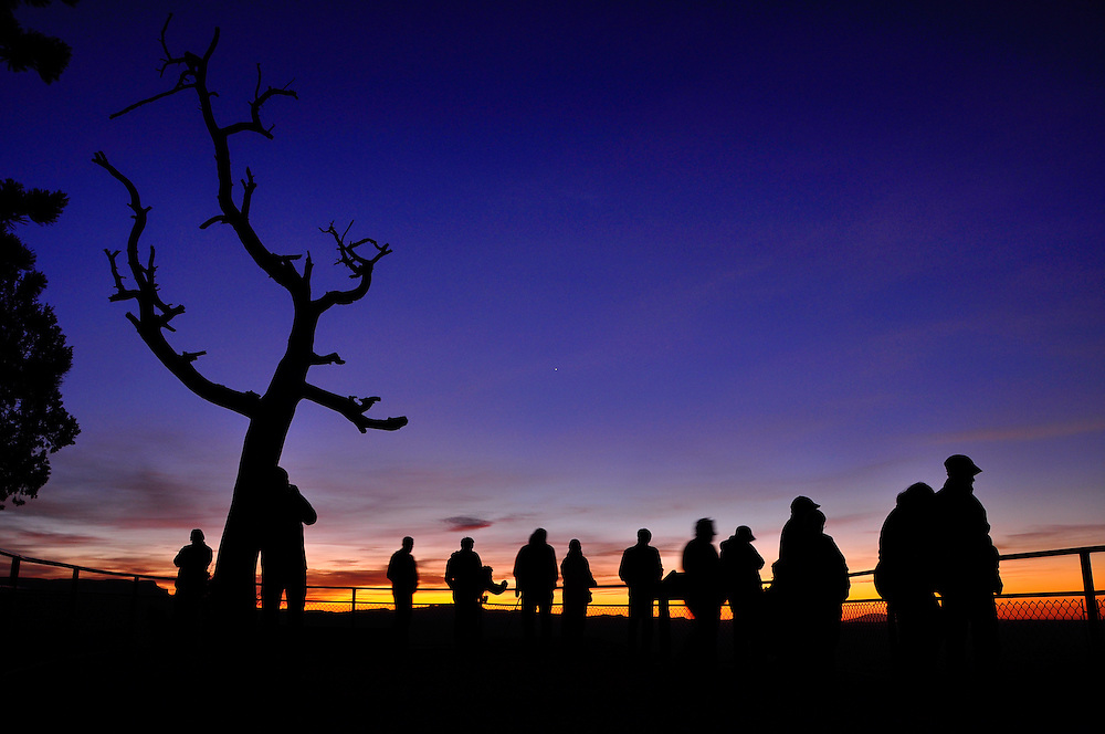 Watching sunrise from Sunrise Point in Utah's Bryce Canyon National Park.