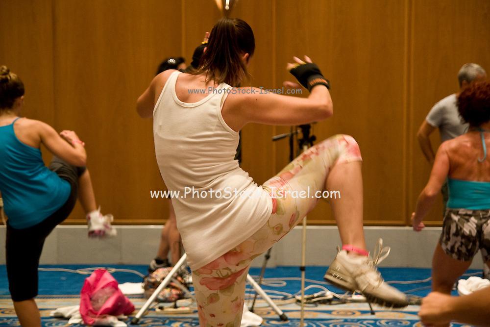Israel, Eilat, Kickboxing lesson