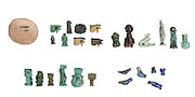Various Egyptian Faience amulets