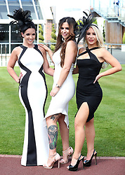 Racegoers arrive during Ladies Day of the 2018 Boodles May Festival at Chester Racecourse.