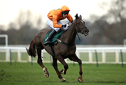 Erick Le Rouge ridden by Chester Williams wins the Sodick Conditional Jockeys' Handicap Hurdle at Warwick Racecourse