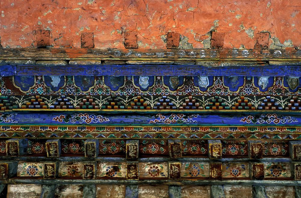 Detail of dzong, Bumthang