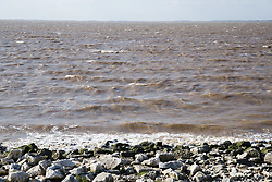 Looking across the Humber Estuary from Spurn Head; East Yorkshire; England