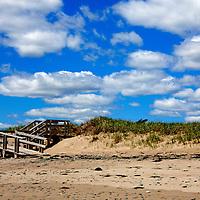 North America, Canadam Nova Scotia, Martinique Beach. Boardwalk at Martinique Beach.