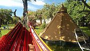Tentipi in paradise. Och hängmatta från Ecuador.