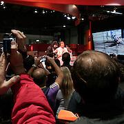 Salone Internazione del motociclo 2010 a Milano Dario Ballantini imita Valentino..International motorcycle exibition 2010 in Milan.Dario Ballantini imitate the fashion design Valentino