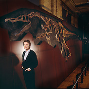William Walker, plumber and discoverer of Baryonyx, found the specimen while walking in smokejack's Quarry near Dorking on his day off and brought it to Angela Milner at the British Museum of Natural History pictured.