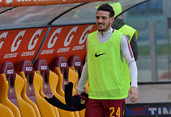 April 7, 2018 - Rome, Italy - Alessandro Florenzi during the Italian Serie A football match between A.S. Roma and ACF Fiorentina at the Olympic Stadium in Rome, on april 07, 2018. (Credit Image: © Silvia Lore/NurPhoto via ZUMA Press)