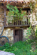Traditional home in mountain village of Somaniezo in Picos de Europa in Cantabria, Northern Spain
