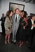 DAVID WALLIAMS, NAOMI CAMPBELL AND TAMARA MELLON, Helmut Newton XL. Hamiltons. Carlos Place. London. 25 September 2007. -DO NOT ARCHIVE-© Copyright Photograph by Dafydd Jones. 248 Clapham Rd. London SW9 0PZ. Tel 0207 820 0771. www.dafjones.com.