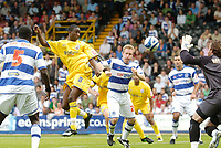 Photo: Leigh Quinnell.<br /> Queens Park Rangers v Southampton. Coca Cola Championship. 01/09/2007. Bradley Wright-Phillips heads in Southamptons third goal.