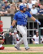 CHICAGO - AUGUST 13:  Melky Cabrera #53 of the Kansas City Royals bats against the Chicago White Sox on August 13, 2017 at Guaranteed Rate Field in Chicago, Illinois.  The Royals defeated the White Sox 13-6.  (Photo by Ron Vesely) Subject:   Melky Cabrera