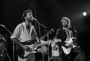 Eric Clapton jams with John Martyn at the Island 25 party - London 1987