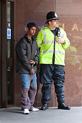 © Licensed to London News Pictures. 29/10/2011. Birmingham, UK. FILE PICTURE DATED 05/09/2009. Police detain a young Asian man after confrontations at an English Defence League demonstration in September 2009. Photo credit : Joel Goodman/LNP