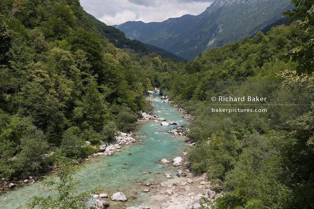 The Soca Gorge on the Soca River, on 21st June 2018, in Kobarid, Slovenia.