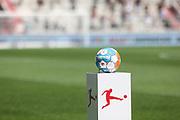 Fussball: 2. Bundesliga, FC St. Pauli - Holstein Kiel, Hamburg, 25.07.2021<br /> Spielball, Ball, Logo, Derbystar<br /> © Torsten Helmke