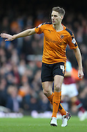Dave Edwards of Wolverhampton Wanderers in action. The Emirates FA cup, 3rd round match, West Ham Utd v Wolverhampton Wanderers at the Boleyn Ground, Upton Park  in London on Saturday 9th January 2016.<br /> pic by John Patrick Fletcher, Andrew Orchard sports photography.