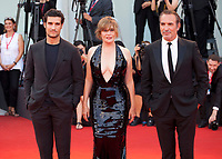 Venice, Italy, 30th August 2019, Jean Dujardin, Emmanuelle Seigner and Louis Garrel at the gala screening of the film J'Accuse (An Officer And A Spy) at the 76th Venice Film Festival, Sala Grande. Credit: Doreen Kennedy/Alamy Live News