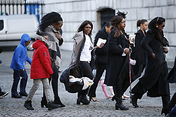 © Licensed to London News Pictures. 14/12/2017. London, Arrivals at St Paul's Cathedral in London for the Grenfell Tower National Memorial Service mark the six month anniversary of the Grenfell Tower fire. The service is attended by survivors and relatives of those who lost their lives in the fire, as well as members of the emergency services and members of the Royal family. 71 people were killed when a huge fire ripped though 24-storey Grenfell Tower block in west London in June 2017. Photo credit: Peter Macdiarmid/LNP