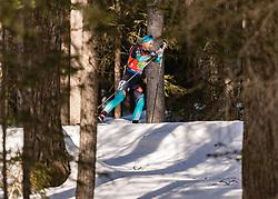 22.02.2020, Suedtirol Arena, Antholz, ITA, IBU Weltmeisterschaften Biathlon, Damen, 4 x 6 km Staffel, im Bild Anais Bescond (FRA) // Anais Bescond of France during women's 4 x 6 km Relay of IBU Biathlon World Championships 2020 at the Suedtirol Arena in Antholz, Italy on 2020/02/22. EXPA Pictures © 2020, PhotoCredit: EXPA/ Stefan Adelsberger