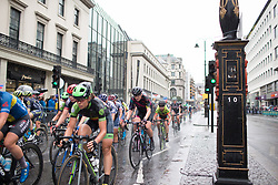 The peloton rides past Charing Cross during the Prudential Ride London Classique - a 66 km road race, starting and finishing in London on July 29, 2017, in London, United Kingdom. (Photo by Balint Hamvas/Velofocus.com)\