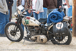 Craig Jackman's 1936 HD VLH Twin Carb during Stage 8 of the Motorcycle Cannonball Cross-Country Endurance Run, which on this day ran from Junction City, KS to Burlington, CO., USA. Saturday, September 13, 2014.  Photography ©2014 Michael Lichter.