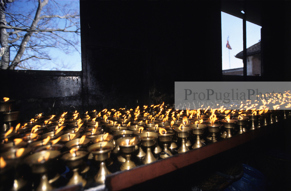 Kathmandu, 13 February 2005. Swayanbhunath Temple