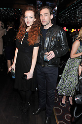 OLIVIA GRANT and JOSEPH MAWLE at a party to celebrate the launch of the Marie Claire Runway Magazine held at Le Baron a The Embassy, Old Burlington Street, London on 1st February 2012.