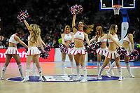 Real Madrid´s cheerleaders dancing during 2014-15 Euroleague Basketball match between Real Madrid and Zalgiris Kaunas at Palacio de los Deportes stadium in Madrid, Spain. April 10, 2015. (ALTERPHOTOS/Luis Fernandez)
