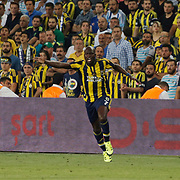 Fenerbahce's Sow (R) during their UEFA Champions league third qualifying round first leg soccer match Fenerbahce between Shakhtar Donetsk at the Sukru Saracaoglu stadium in Istanbul Turkey on Tuesday 28 July 2015. Photo by Aykut AKICI/TURKPIX