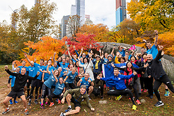 03-11-2018 USA: NYC Marathon We Run 2 Change Diabetes day 2, New York<br /> day before the marathon the usual photo shoot in Central Park / Team China, BvdGF and Novo Nordisk