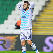 Fenerbahce's Volkan Sen during their Turkish Super League soccer match Bursaspor between Fenerbahce at the Ataturk Stadium in Bursa Turkey on Saturday, 20 February 2016. Photo by TURKPIX