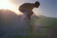 Surfer in the sun, Mendocino Coast, CA..CD scan from 35mm slide film.  © John Birchard