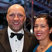 NLD/Utrecht/20121005- Gala van de Nederlandse Film 2012, Ruben van der Meer en partner Sally Lodewijks
