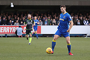 AFC Wimbledon defender Jon Meades (3) controlling the ball and starting an attack during the EFL Sky Bet League 1 match between AFC Wimbledon and Bristol Rovers at the Cherry Red Records Stadium, Kingston, England on 17 February 2018. Picture by Matthew Redman.