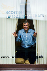 "Pictured: Willie Rennie<br /> <br /> Scottish Liberal Democrat leader Willie Rennie made his final pitch for votes today as he unveiled large building blocks that spelt out the party's flagship ""Penny for education"" policy. Scottish Liberal Democrats HQ, 4, EH12 5DR. Adam Clarke 07450 980 386.the election on Thursday.<br /> <br /> Ger Harley 