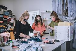THEMENBILD - die Modedesignerin Irina Gahleitner, Inhaberin und kreativer Kopf von IGGI Fashion, stellt mit Hand modische MNS Masken während der Corona Pandemie her. Die gebürtige Russin, die seit über 10 Jahren im Pinzgau lebt, gründete das Modelabel IGGI Fashion 2018 und bietet Alpine-Lifestyle Mode mit dem gewissen Etwas an, aufgenommen am 10. April 2020, Saalfelden, Oesterreich // the fashion designer Irina Gahleitner, owner and creative head of IGGI Fashion, produces fashionable MNS masks by hand during the Corona pandemic. Born in Russia and living in Pinzgau for over 10 years, she founded the label IGGI Fashion 2018 and offers alpine lifestyle fashion with that something special, Saalfelden, Austria on 2020/04/10. EXPA Pictures © 2020, PhotoCredit: EXPA/ JFK