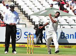 Cape Town. Indian fast bowler Kumar taking his third wicket against South Africa at Newlands stadium  2018.  Picture:Phando Jikelo/African News Agency(ANA)