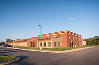 Architectural imaage of the MD National Guard Westminster Readiness Center by Jeffrey Sauers of Commercial Photographics, Architectural Photo Artistry in Washington DC, Virginia to Florida and PA to New England