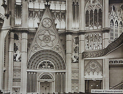 © Licensed to London News Pictures. 10/10/2013. A Grade-II listed former theatre in Woolwich is being restored to its former glory by a London based church. This photo of the gothic interior comes from a promotional brochure produced at the time of its opening in 1937. Photo used with permission of Greenwich Heritage Centre. More copy at: http://www.greenwich.co.uk/woolwichgranada.txt  Credit : Rob Powell/LNP