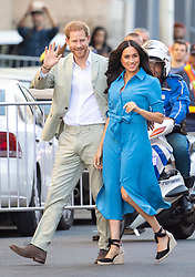 The Duke and Duchess of Sussex arrive for a visit to the District Six Museum in Cape Town, South Africa, on the first day of their tour of Africa.